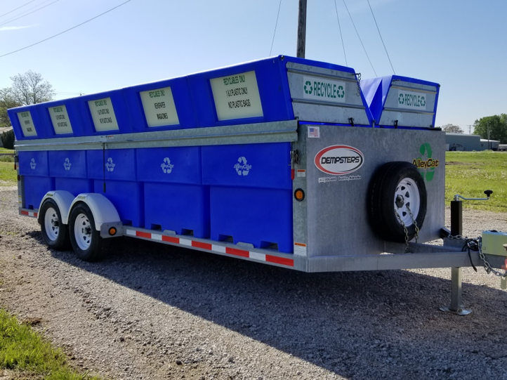 Image of St. Paul city recycling trailer.
