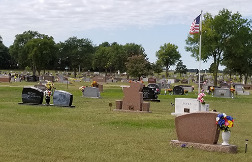 Image of Elmwood Cemetery in St. Paul, Nebraska.