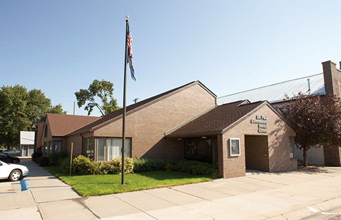 Image of the senior center in St. Paul, Nebraska.
